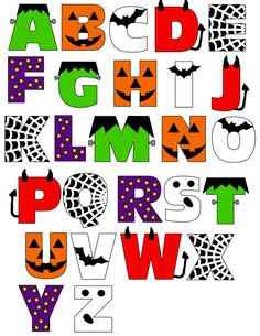 This is a digital file of a Halloween Alphabet. You will receive this Halloween Alphabet in full color SVG format.
