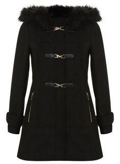 Black Duffle Coat