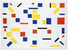 "Bart van der Leck's ""Composition No. from Credit Gemeentemuseum Den Haag. The New York Times Patrick Nagel, Pablo Picasso, Museum Of Contemporary Art, Modern Art, Bauhaus, Theo Van Doesburg, Gem Online, Design Movements, Dutch Painters"