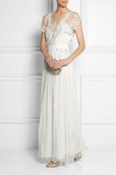 Sophia Kokosalaki - Tykhe Lace And Chiffon Gown - Off-white - IT36