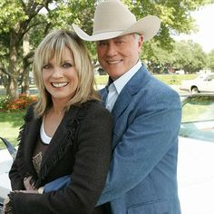 "Linda Gray & Larry Hagman! I love ""Dallas""!"