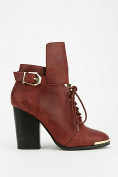 Grey City Bree Lace-Up Ankle Boot #urbanoutfitters