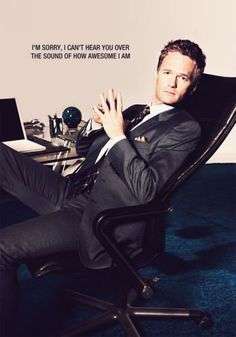 Barney Stinson aka Neil Patrick Harris - How I Met Your Mother. Too funny on the show.make sure to tune in! How I Met Your Mother, I Smile, Make Me Smile, Narnia, Barney Stinson Quotes, Barney Quotes, Josh Radnor, Xabi Alonso, Movies And Series
