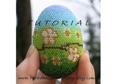 PDF File TUTORIAL - Crochet Seed Beaded Easter Egg with Swarovski Crystals
