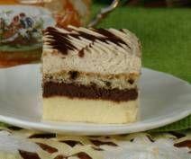 Sernik z kremem czekoladowym i cappuccino