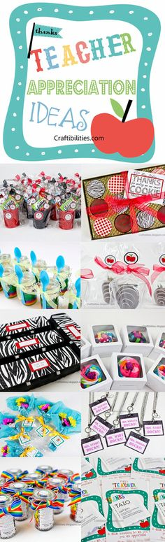 Adorable Teacher Appreciation Week IDEAS - Easy & Inexpensive! GIFT -FAVORS. This blog has so many ideas!