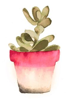 Succulent Watercolor Print by LovelyByErinMarie on Etsy https://www.etsy.com/listing/217219560/succulent-watercolor-print