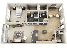 3D Floor Plan image 2 for the Celebrity Floor Plan of Property Mosaic South End