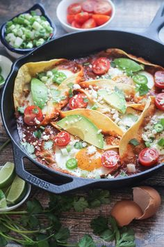 Huevos Rancheros in Colorado Sauce _ I know I've told you before about my love for Mexican-breakfast, but this just made me want to shout it from the rooftops! The total hero of this recipe is the Colorado Sauce!