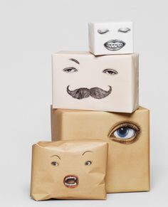 Playful wrapping paper by Swedish designers, Happy F