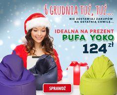 Czas dawania #prezentów! W naszej ofercie znajdziesz #pufy i #fotele w super cenach.