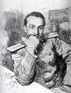 Portrait of Aleksandr Zhirkevich, 1891 - Ilya Repin - WikiArt.org