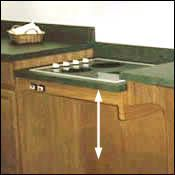 Height Adjustable Cook Top - $1780 from this site but I like the idea - they sell a sink that raises and lowers too
