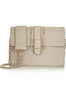 Chloé Bronte textured-leather shoulder bag | NET-A-PORTER