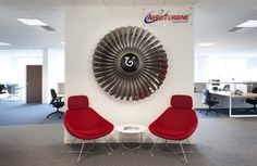 The EMEA headquarters of Aero Turbine, one of the world's largest suppliers of certified aircraft engines, have been carpeted using Balance carpet tiles from Quadrant Carpets. Carpet Tiles, Tile Design, Home Appliances, Interior Design, Carpets, Aircraft, House Appliances, Nest Design, Farmhouse Rugs