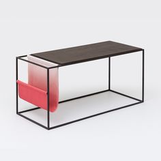 J-table Ombre / coffee grounds upcycle product / side table, magazine rack