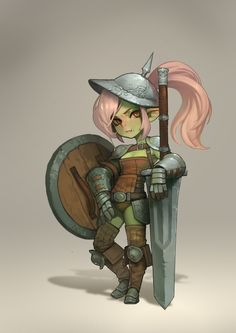 f Half Orc Half Gnome Fighter med Armor Helm Shield Sword midlvl Resultado de imagen de fantasy character Fantasy Character Design, Character Creation, Character Design Inspiration, Character Art, Female Character Concept, Dungeons And Dragons Characters, Dnd Characters, Fantasy Characters, Fantasy Warrior