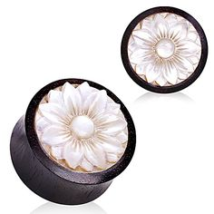 Organic Sono wood with Mother of Pearl Lotus Plug. Available in 7 sizes. Material : Organic Sono wood Sold as Pair Free Shi Stone Plugs, Wood Plugs, Jewelry Stand, Cute Jewelry, Beaded Jewelry, Jewlery, Jewelry Art, Wedding Jewelry, Diamond Jewelry