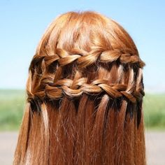 Tutorial on the double waterfall braid, pretty for summer!