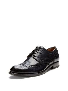 Perforated Wingtip Shoes
