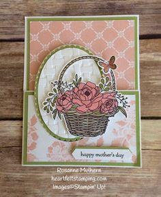 Blossoming Basket Mother's Day Gift Card Holders - Rosanne Mulhern Heartfelt Stamping
