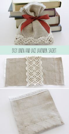 Easy Linen and Lace Lavender Sachet