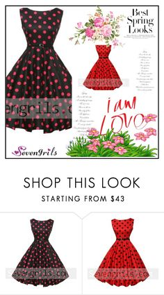 """Sevengrils"" by dilruha ❤ liked on Polyvore featuring H&M and vintage"