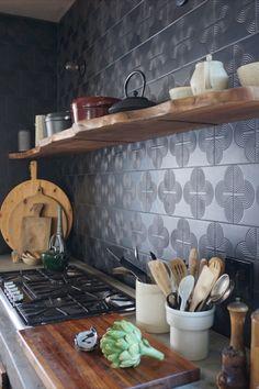 KISMET's art deco inspired but timeless FORTUNE's SISTER pattern. Our ONYX glaze has a velvety soft egg-shell sheen. Soft Egg, Egg Shells, Glaze, Tile, Sisters, Art Deco, Surface, Ceramics, Inspired