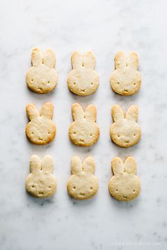 Miffy lemon shortbread cookies