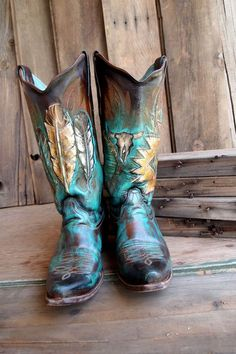 Gorgeous painted cowboy boots, featured in Cowboys & Indians Magazine Cowgirl Style, Cowgirl Boots, Western Boots, Hippie Boots, Gypsy Boots, Cowgirl Chic, Western Wear, Westerns, Hipster Shoes