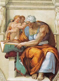 Sixtinische Kapelle, Michelangelo, Cumäische Sibylle (Sibyl from Cumae) by HEN-Magonza, via Flickr