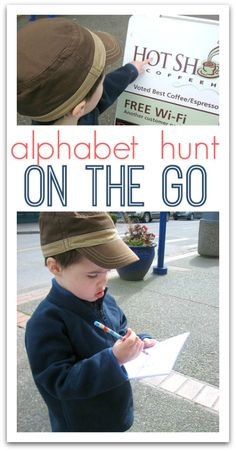 letter hunt out on the town! Great gross motor alphabet activity.
