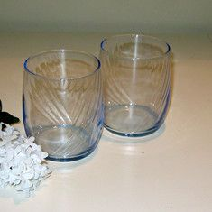 Recycled Pale Blue Juice Glasses Set of 6
