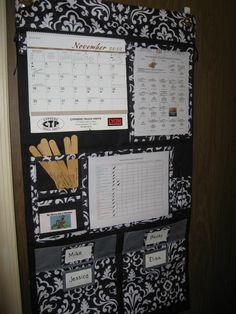 Thirty-One Hang-Up Home Organizer meets chore chart. www.mythirtyone.com/sarawen31