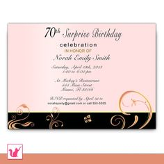 personalized Adult birthday invitation