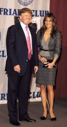 Donald Trump and Melania Knauss during Friars Club Roast 'The Donald' at New York Hilton in New York City New York United States