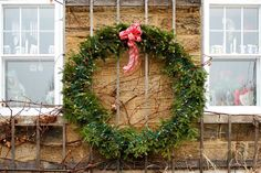 Large Christmas Wreath by Cynthia Woods