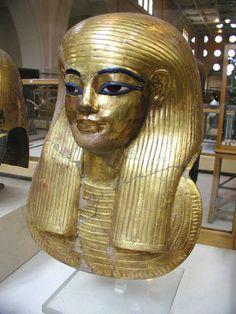 Gilded mummy mask of Yuya, father of Great Royal Wife, Tiye
