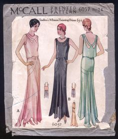1930 McCall Pattern Ladies 039 Stunning Art Deco Evening Gown | Whoever bought it ~ Please ~ sell copies! ~ eBay sold for $831 !! ~