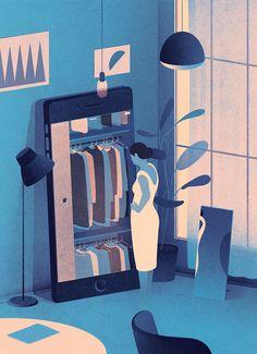 Glamour magazine illustration by Karolis Strautniekas