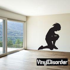 Praying Boy Wall Decal - Vinyl Decal - Car Decal - 014