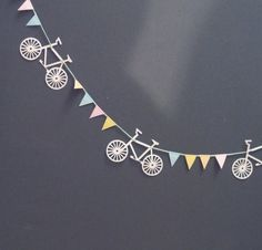 bicycle + bunting -