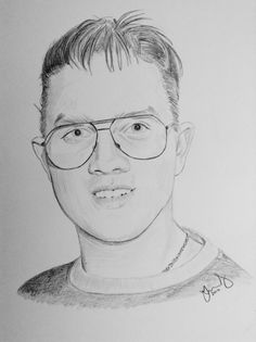 Commissioned pencil portrait of a young man.