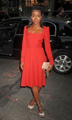 Genevieve Jones  attending the Valentino celebrates Fashion's Night Out 2012 in New York