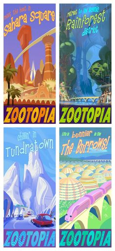 Why Zootopia Is Unlike Any Other Disney Animal Movie Warum Zootopia anders ist als jedes andere Disney-Tierfilm-Exklusivinterview mit den Regisseuren Rich Moore, Byron Howard und Produzent Clark Spencer Disney Pixar, Disney And Dreamworks, Disney Animation, Disney Love, Disney Magic, Walt Disney, Disney Family, Disney Posters, Travel Posters