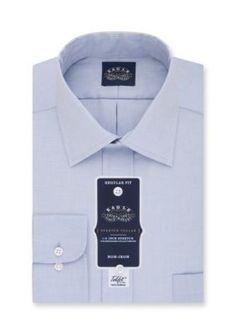 Eagle Shirtmakers  Non Iron Stretch Collar  ular Fit Dress Shirt
