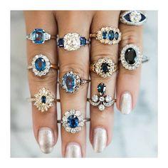 "185 Likes, 12 Comments - Sabina Motasem (@sabinamotasem) on Instagram: ""STYLE // sapphire engagement #vintage jewellery @victorbarbonejewelry . . . . #engagementring…"""