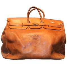 Hermes antique travel bag  {I would plan weekend get aways just to carry this bag!}