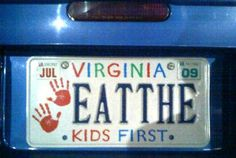 Remind me to never take my kids to Virginia for vacation. Find more funny signs at funnysigns.net