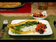 Omeleta s našlehanou ricottou